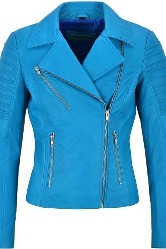 Blue Biker Style Jacket
