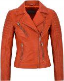Classic Orange Mila Kunis Women Leather Jacket