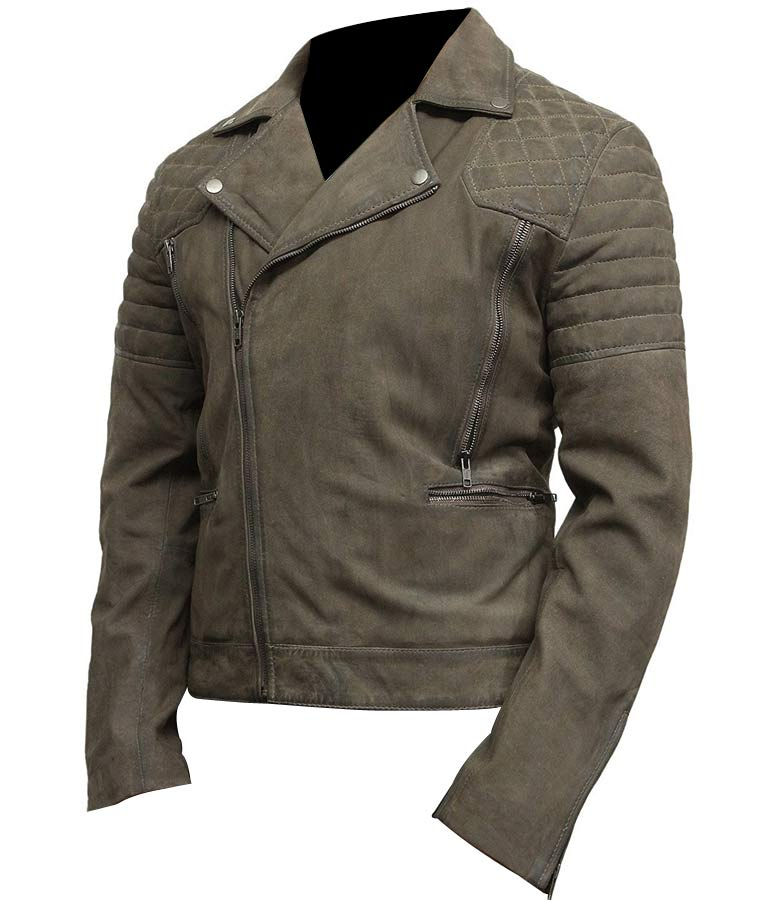 Mens-Classic-Motorcycle-Grey-Suede-Leather-Jacket