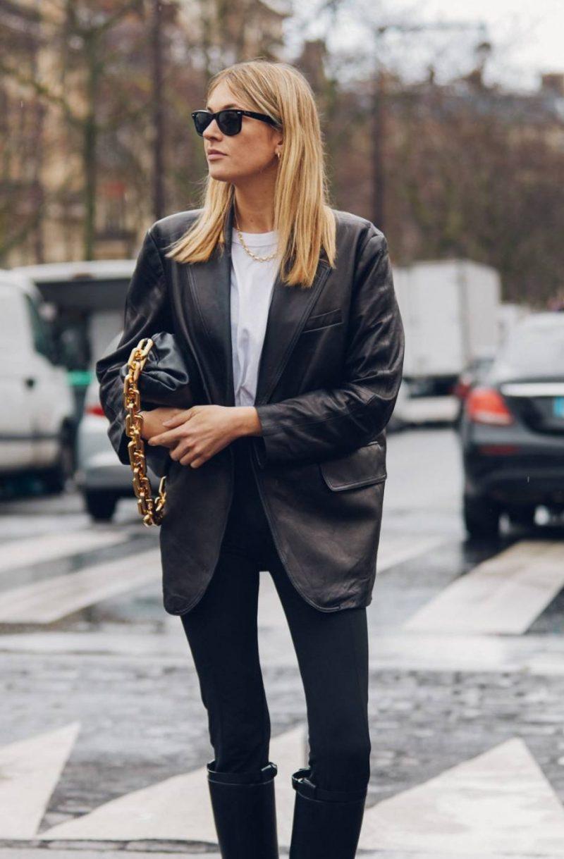 street style leather blazer