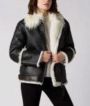 White Aviator Shearling Jacket
