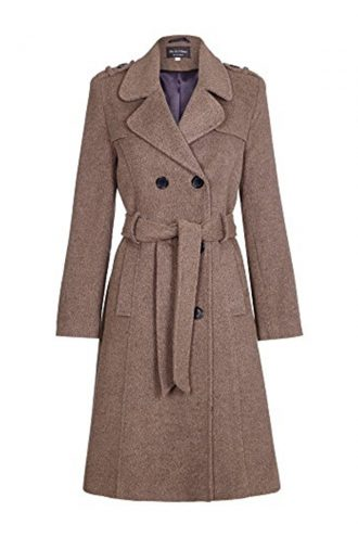 Womens-Wool-Belted-Military-Style-Tweed-Coat