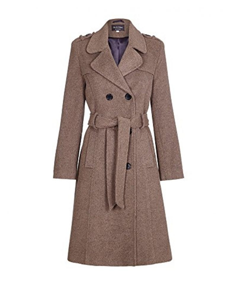 Womens-Wool-Belted-Military-Style-Tweed-Coat