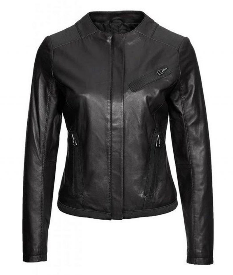Casual Wear Black Leather Jacket