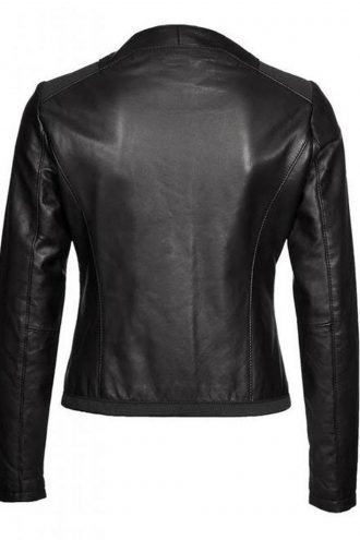 Casual Wear Black Leather Jacket