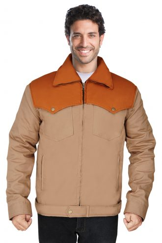 Stylish brown cotton jacket for men