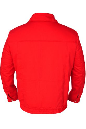 Attractive red cotton jacket