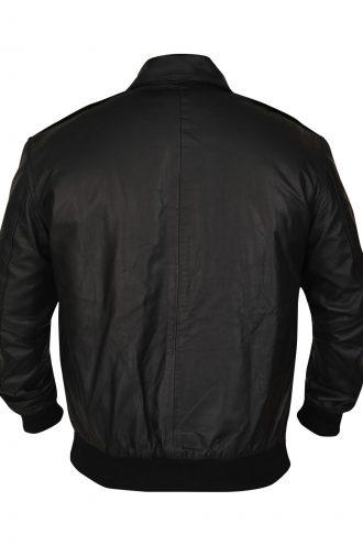 Black Bob Crane bomber jacket