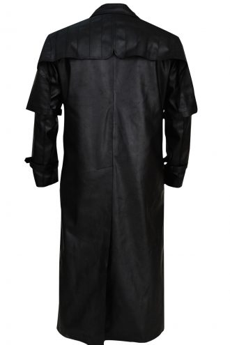 Van Helsing Hugh Jackman black leather coat