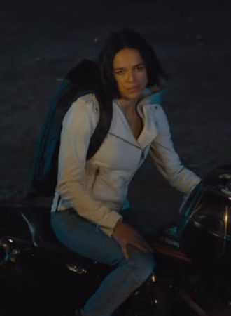 Michelle Rodriguez Fast 9 White Leather Jacket