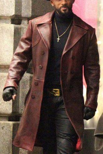 Will smith maroon trench coat