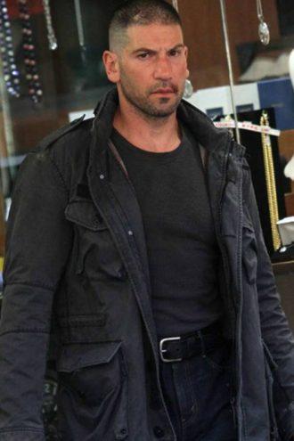 Men's The Punisher Frank Castle Black Cotton Jacket